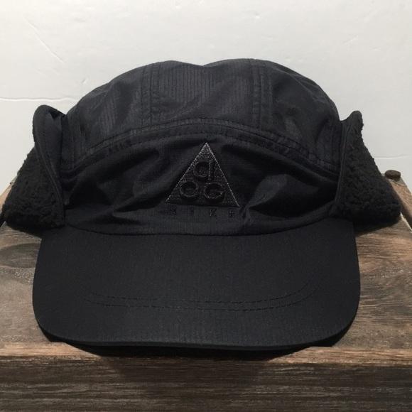 09fdc181b Nike ACG Tailwind Black Sherpa Adjustable Hat! NWT